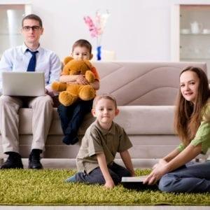 Family Inside Their Home