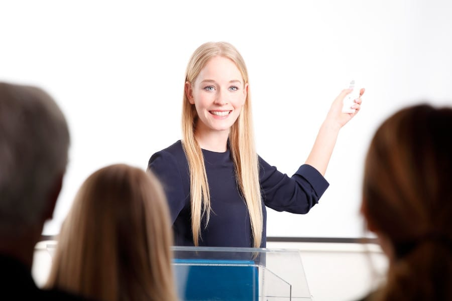 Woman In Presentation